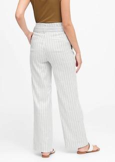 Banana Republic High-Rise Wide-Leg Linen-Cotton Pant