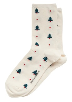 Banana Republic Holiday Tree Crew Socks
