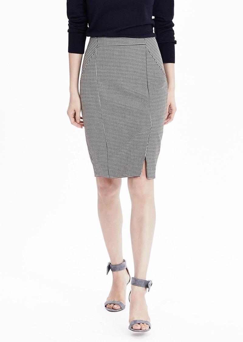 cee28e8f7c Banana Republic Houndstooth Pencil Skirt | Skirts