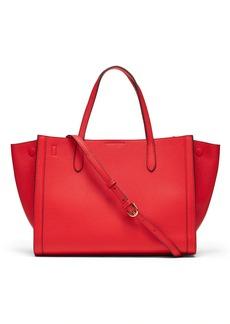 Banana Republic Italian Leather Medium Tailored Tote Bag