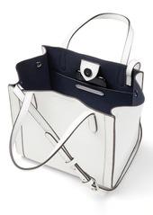 Banana Republic Italian Leather Mini Tailored Tote Bag