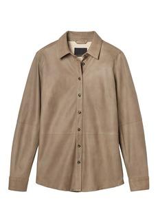 Italian Leather Shirt Jacket
