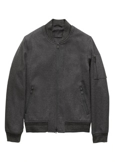 Banana Republic Italian Melton Bomber Jacket