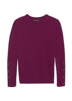 Banana Republic Italian Merino Blend Button-Cuff Sweater