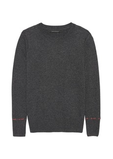 Banana Republic Italian Merino-Blend Embroidered Sweater