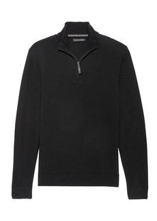 Banana Republic Italian Merino Blend Half-Zip Sweater