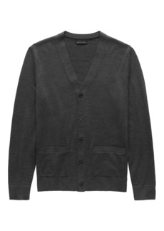 Banana Republic Extra-Fine Italian Merino Wool Cardigan Sweater