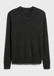 Banana Republic Italian Merino V-Neck Sweater