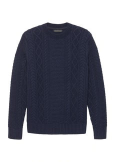 Banana Republic Cable-Knit High Crew-Neck Sweater