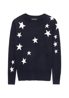 Banana Republic Italian Merino Wool-Blend Star Sweater