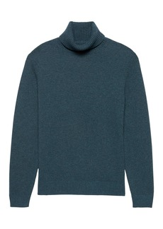 Banana Republic Italian Merino Wool Blend Turtleneck Sweater