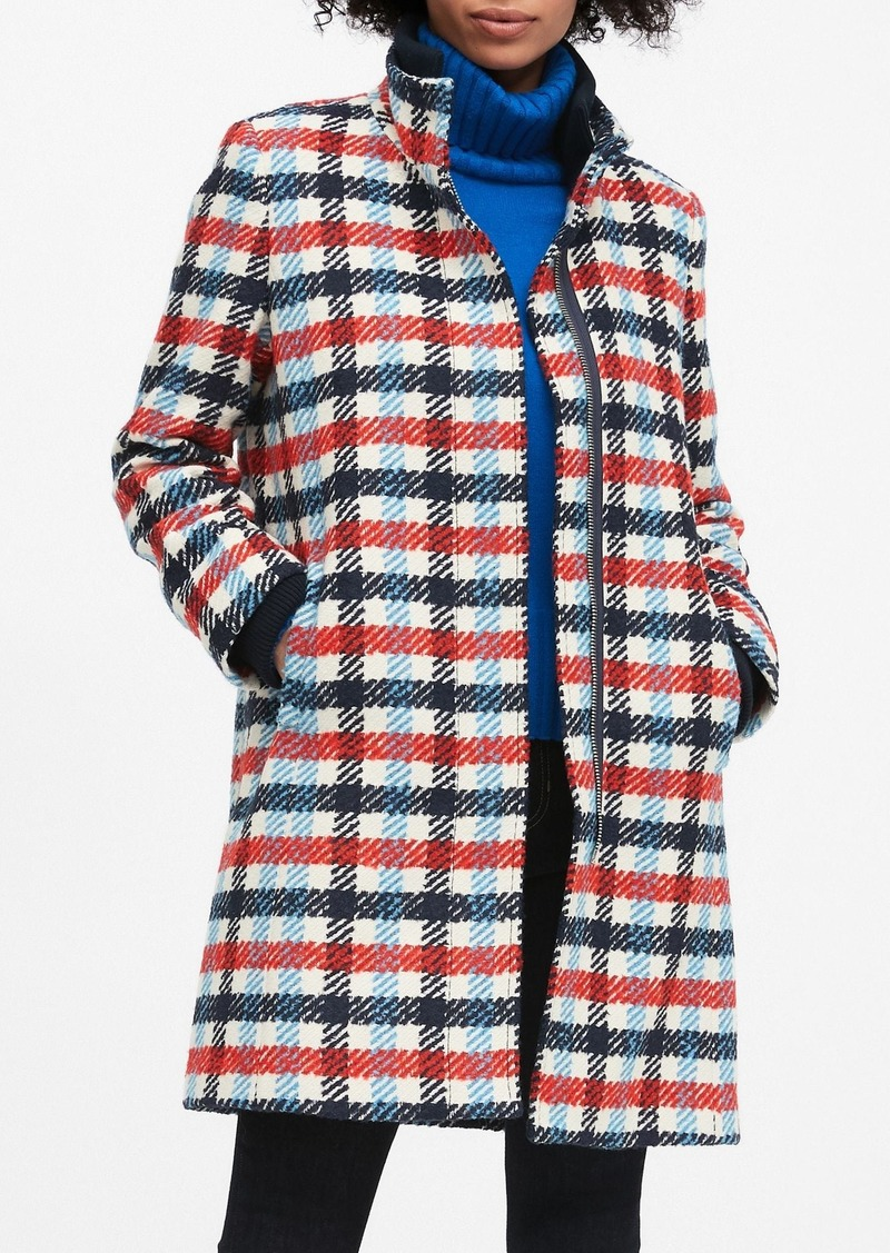 Banana Republic Italian Plaid Stadium Coat