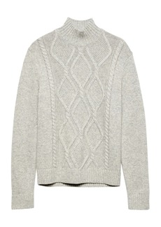 Banana Republic Cable-Knit Mock-Neck Sweater
