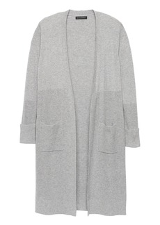 Banana Republic Italian Superloft Ribbed Duster Cardigan Sweater