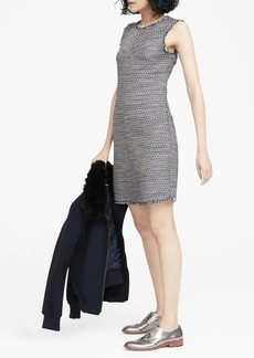 Banana Republic Italian Tweed Bias-Cut Shift Dress