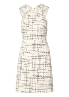 Banana Republic Italian Tweed Cross-Front Sheath Dress