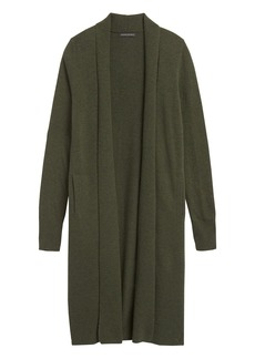 Banana Republic Italian Wool-Blend Duster Cardigan