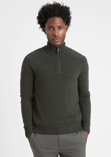 Banana Republic Italian Wool-Blend Half-Zip Sweater