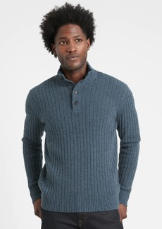 Banana Republic Italian Wool-Blend Mock-Neck Sweater