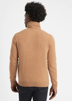 Banana Republic Italian Wool-Blend Turtleneck Sweater
