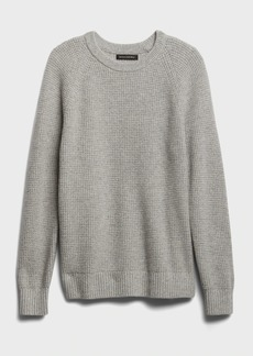 Banana Republic Italian Wool-Blend Waffle-Knit Sweater