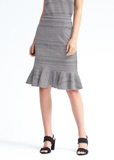 Banana Republic Jacquard-Knit Flounce Midi Skirt