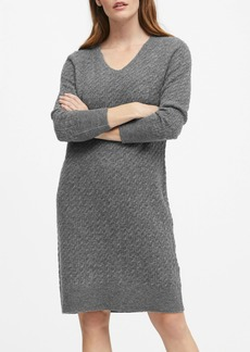Banana Republic JAPAN EXCLUSIVE Aire Cable-Knit Sweater Dress