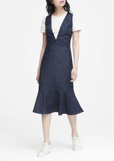 Banana Republic JAPAN EXCLUSIVE Denim Deep V-Neck Dress