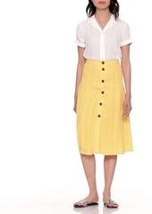 34e2e6d9a3 Banana Republic JAPAN EXCLUSIVE Leaf Print Pleated Midi Skirt | Skirts