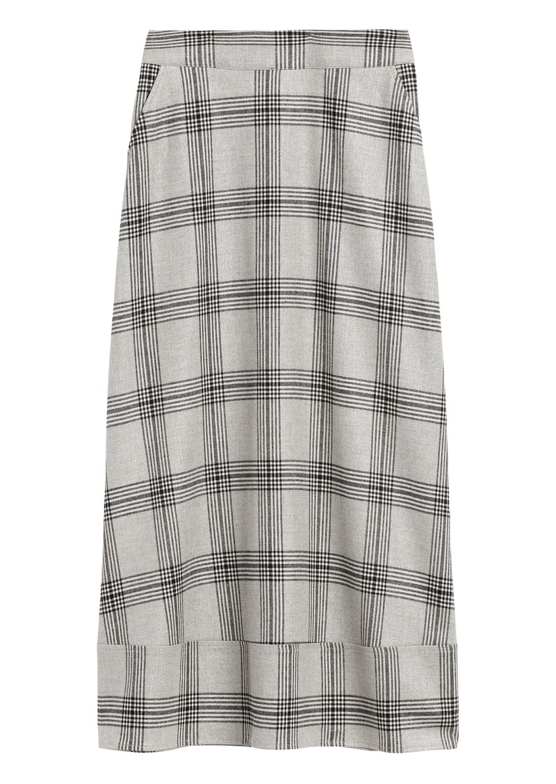 Banana Republic JAPAN EXCLUSIVE Metallic Plaid Midi Skirt