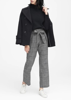 Banana Republic JAPAN EXCLUSIVE Blake Wide Leg-Fit Plaid Ankle Pant
