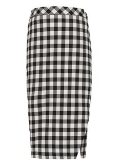 Banana Republic JAPAN ONLINE EXCLUSIVE Buffalo Plaid Wrap-Effect Pencil Skirt