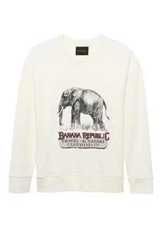 Banana Republic JAPAN ONLINE EXCLUSIVE French Terry Elephant Graphic Sweatshirt
