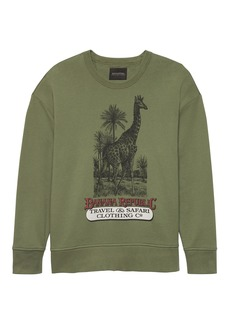 Banana Republic JAPAN ONLINE EXCLUSIVE French Terry Giraffe Graphic Sweatshirt