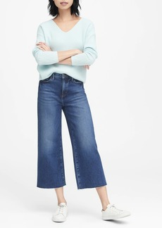 Banana Republic JAPAN EXCLUSIVE High-Rise Wide-Leg Cropped Jean