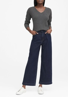 Banana Republic JAPAN EXCLUSIVE High-Rise Wide-Leg Pleated Ankle Jean