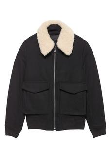Banana Republic JAPAN ONLINE EXCLUSIVE Shearling Collar Bomber Jacket