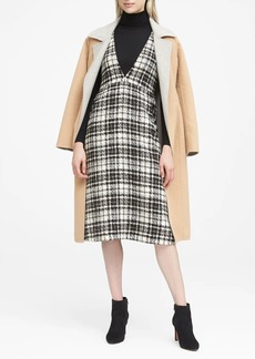 Banana Republic JAPAN ONLINE EXCLUSIVE Italian Tweed Deep V-Neck Pinafore Midi Dress