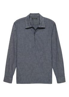Banana Republic JAPAN EXCLUSIVE Oversized Chambray Half-Zip Shirt