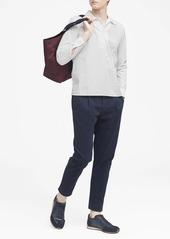 Banana Republic JAPAN EXCLUSIVE Oversized Luxe Poplin Half-Zip Shirt