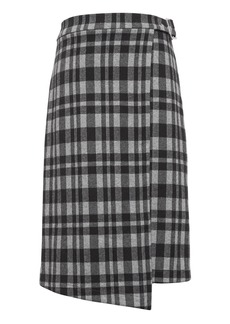 Banana Republic JAPAN ONLINE EXCLUSIVE Plaid Knit Wrap Skirt