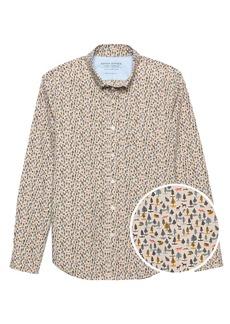 Banana Republic JAPAN ONLINE EXCLUSIVE Slim-Fit Luxe Poplin Forest Print Shirt