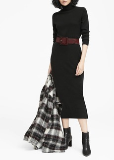 Banana Republic JAPAN ONLINE EXCLUSIVE Turtleneck Midi Sweater Dress