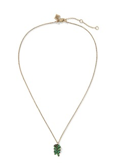 Banana Republic Jeweled Palm Leaf Pendant Necklace