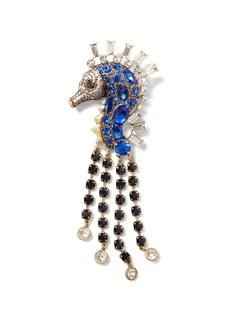 Banana Republic Jeweled Seahorse Brooch