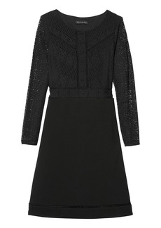 Banana Republic Lace Fit-and-Flare Dress