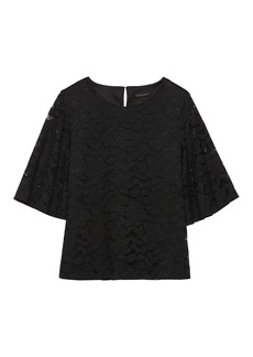 Banana Republic Lace Flare-Sleeve Top