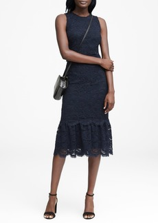 Banana Republic Lace Midi Dress