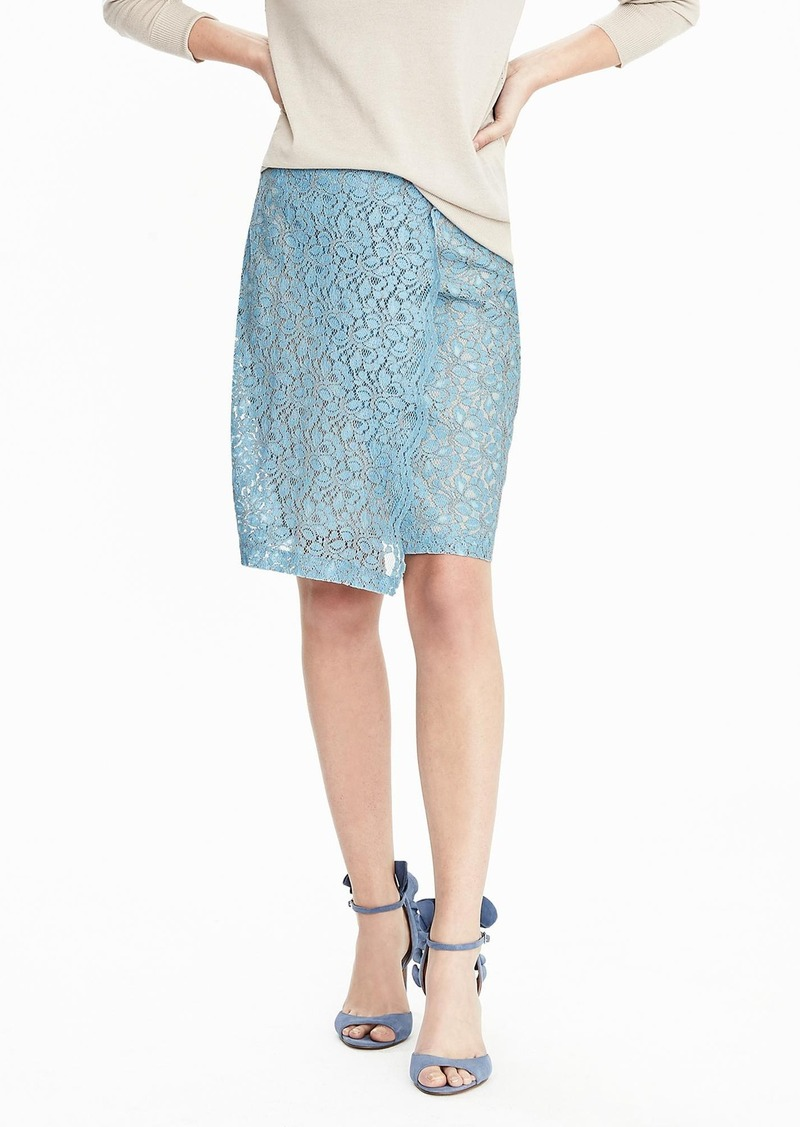Banana Republic Lace Overlap Pencil Skirt