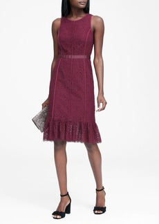 Banana Republic Lace Paneled Sheath Dress
